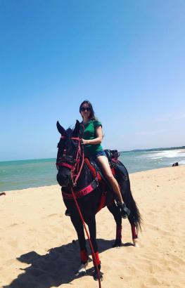 Cavalgada à beira do mar e da lagoa