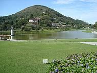 Lago no Formato do Brasil