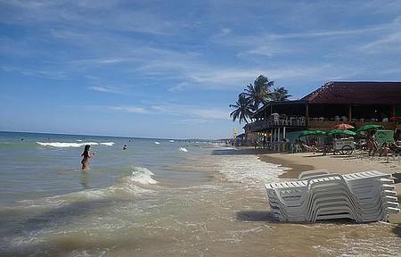 Praia do Frances - Curtindo a Praia