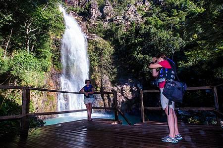 Cachoeira da Serra Azul - Cenário é puro encanto