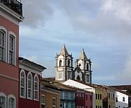 Detalhe da riquíssima arquitetura do Pelourinho em Salvador