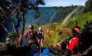 Salto Utiariti, 98 metros e moldura do arco-íris