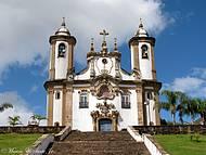 Vista frontal da Igreja de Nossa Sra.do Carmo - Ouro Preto/MG
