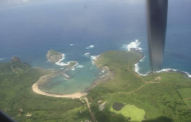 Vista aérea da Baía do Sueste