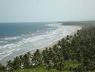 Vista panor�mica da praia de Itacarezinho