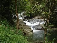 Banho de cachoeira tamb�m fazem parte do roteiro