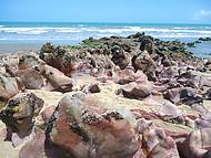 Pedras com uma colora��o extraordin�ria.