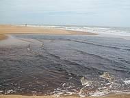Encontro do rio com o mar, divisa ES/BA