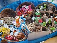 Artesanatos locais vendidos na Praia