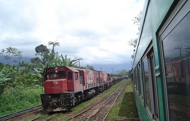 Vis�o lado externo do trem