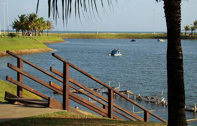 Regi�o dos Lagos na Orla de Atalaia - Considerada a Orla mais Bonita do Brasil.