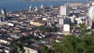Catedral de Santos ao Fundo