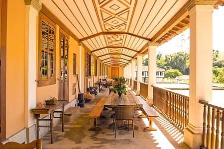 Vale do Café em pequenas doses - Espaços grandiosos e preservados encantam as visitas