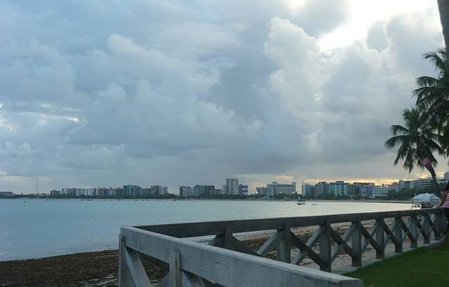 Um belo fim de tarde. Perfeito para um passeio.