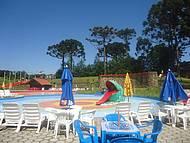 Vista de uma das piscinas do Parque