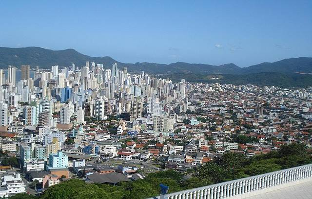 Vista da bela cidade