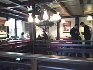 Parte superior do restaurante
