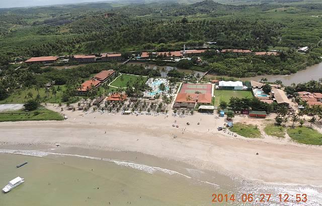 Vista a�rea do Resort - Voo de Ultra leve