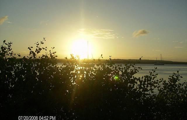 Pôr-do-sol na praia de Jacaré!