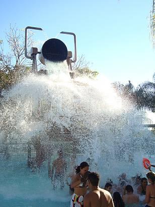 Caldeira na piscina Infantil