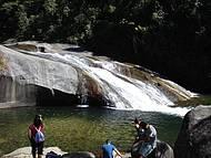 Manhã na Cachoeira do Escorrega