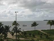 Da janela do Hotel Atlântico, a praia  de Tambau.