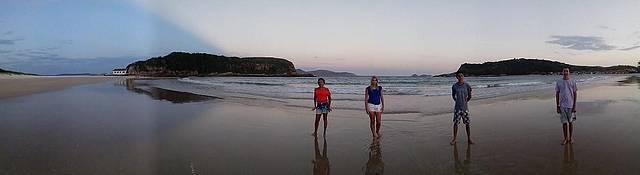 Final de tarde na praia das conchas