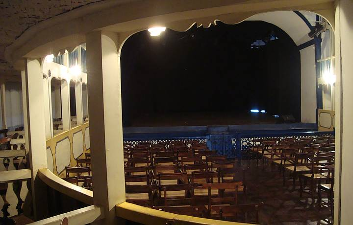 Um dos ângulos do teatro.