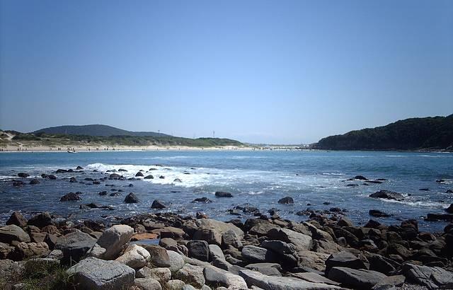 Foto Tirada das Pedras no Final da Praia
