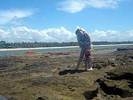 Pedra no meio do mar quando a Maré está baixa...