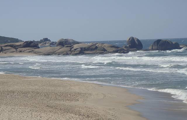 Uma praia super tranquila