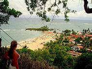Trilha que permite ver 2°e 3° praia
