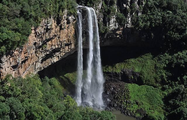A cachoeira!