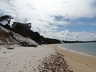 Praia do Gunga - trecho mais deserto