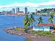 Vista da cidade de Ilhéus, na Bahia.