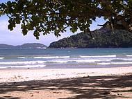 Visão da chegada na Praia de Dois Rios