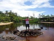 Rio Riacho Doce que fica na Praia de Riacho Doce, divisa do Espírito e Bahia.