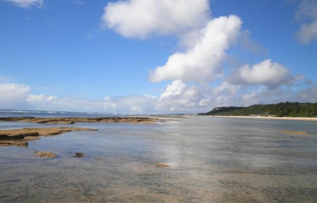 Um dia tranquilo de praia.