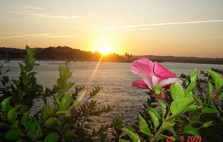 Encanto toma conta da paisagem ao pôr do sol