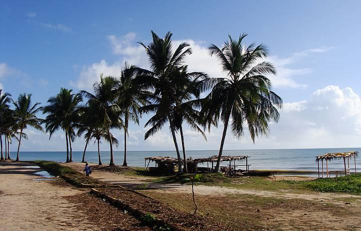 Praia no Centro do Prado Numa Bela Manhã de Sol