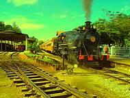 Trem das águas rumo à Soledade de Minas.