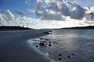 Braço de mar do Cunhaú onde é feita a travessia de balsa