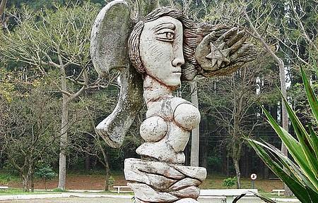 Ufsm - Obra de arte no campus universitário SM