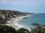 Vista Panorâmica à Esquerda da Praia de Tambaba - Maravilhosa!