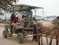 Passeio de charrete na Ilha de Paquetá