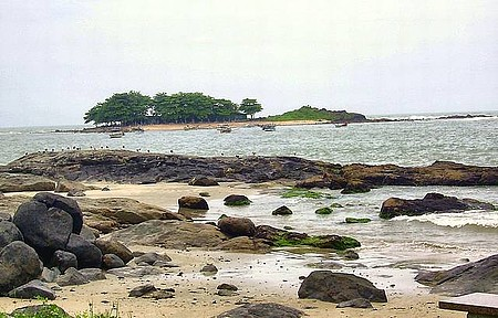 Praia do Grant - Vista da Ilha