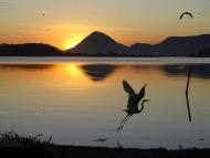 Por do Sol na Lagoa da Barra