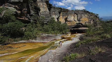 48 horas na Serra de Ibitipoca - Maravilha de cenário: Rio do Salto e Paredão de Sto Antônio
