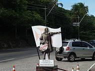 Estátua de Cabral no centro de Porto Seguro