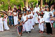 Festa da padroeira envolve nativos de todas as idades